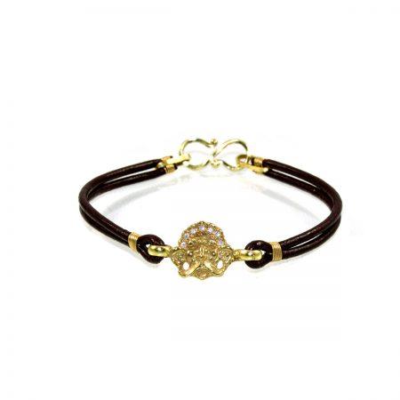 germano-gioielli-bracciale-logo-diamanti-cuoio
