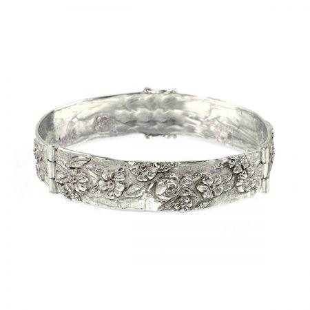 germano-gioielli-bracciale-rigido-rose-e-anemoni-oro-bianco