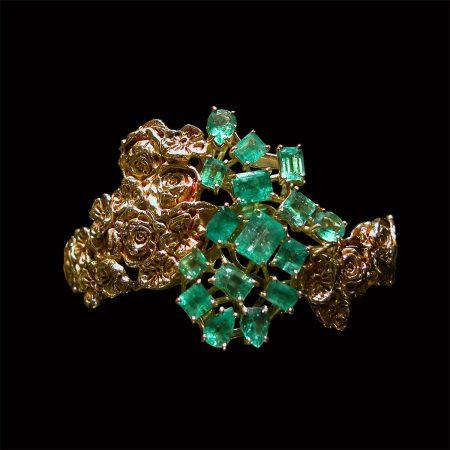 germano-gioielli-bracciale-rose-smeraldi