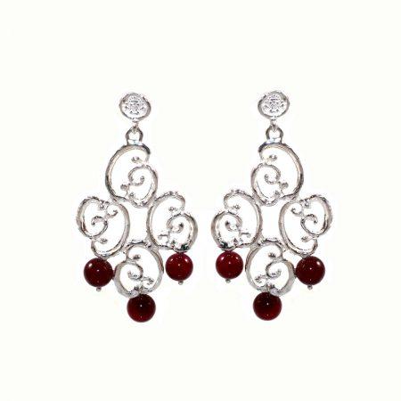 germano-gioielli-ornati-orecchini-rombo-rigido-con-agata-rossa