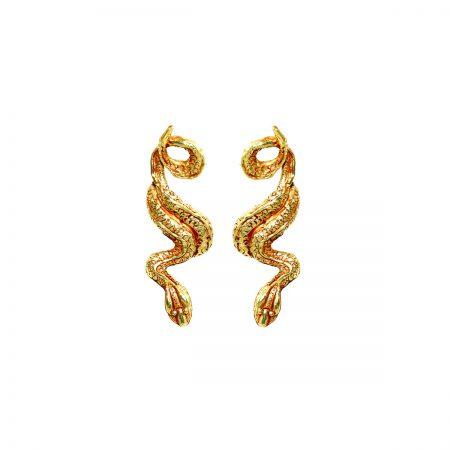 germano-gioielli-terra-orecchini-serpente-lungo