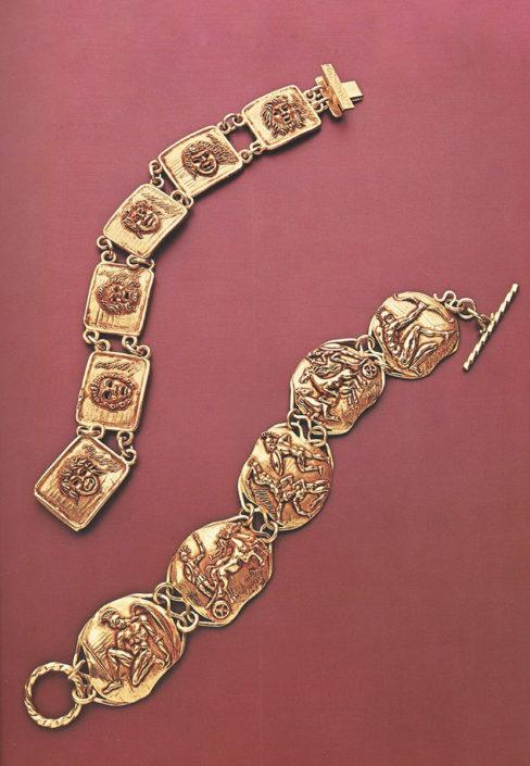 Bracciali maschere achilleide germano gioielli